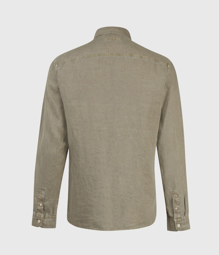 Men's Gilles Linen Shirt (safari_taupe) - Image 3