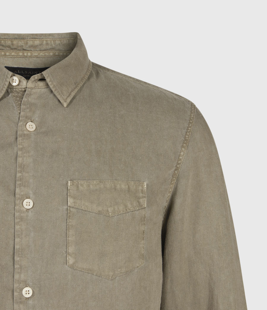Men's Gilles Linen Shirt (safari_taupe) - Image 4