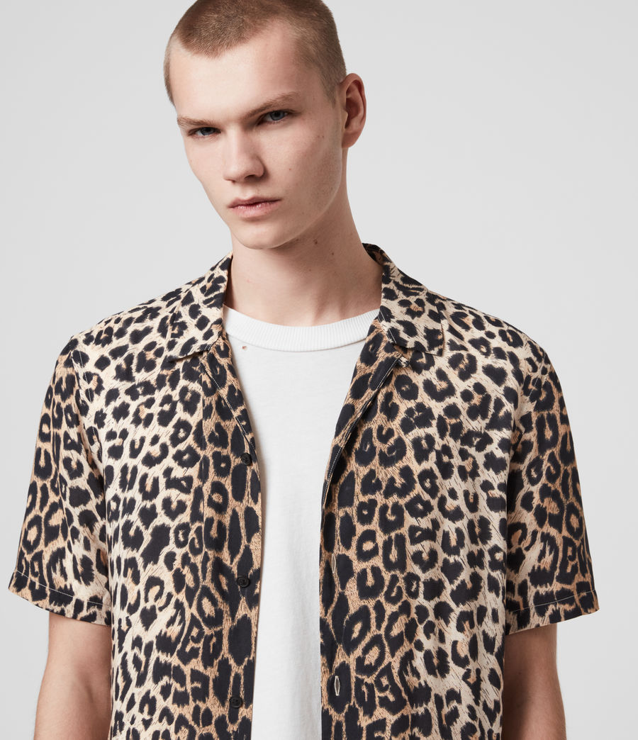Hombres Leppo Short Sleeve Shirt (leopard_brown) - Image 1