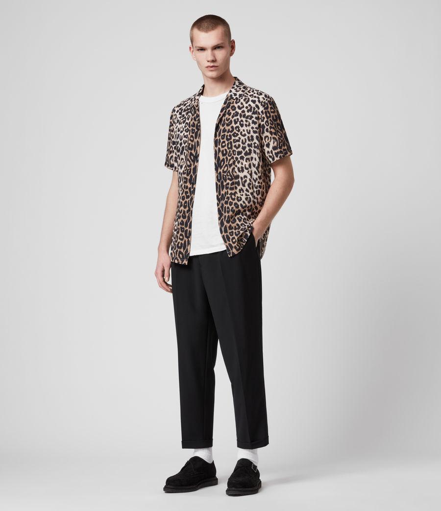 Hombres Leppo Short Sleeve Shirt (leopard_brown) - Image 2