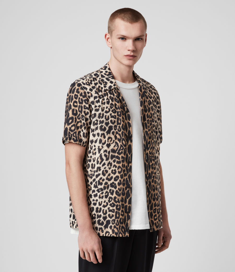 Hombres Leppo Short Sleeve Shirt (leopard_brown) - Image 4