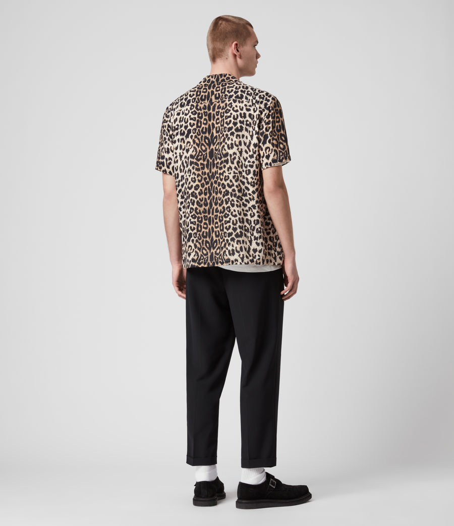 Hombres Leppo Short Sleeve Shirt (leopard_brown) - Image 4