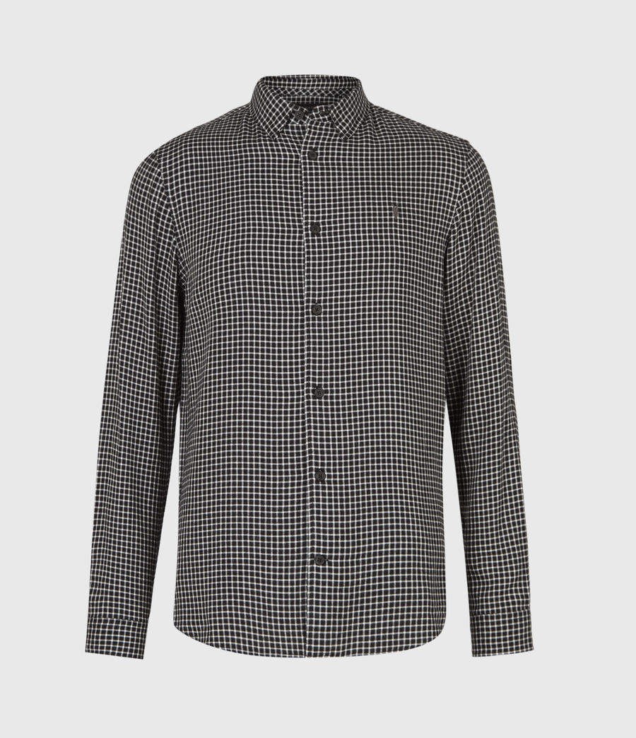 Mens Tilden Shirt (black_ecru) - Image 2