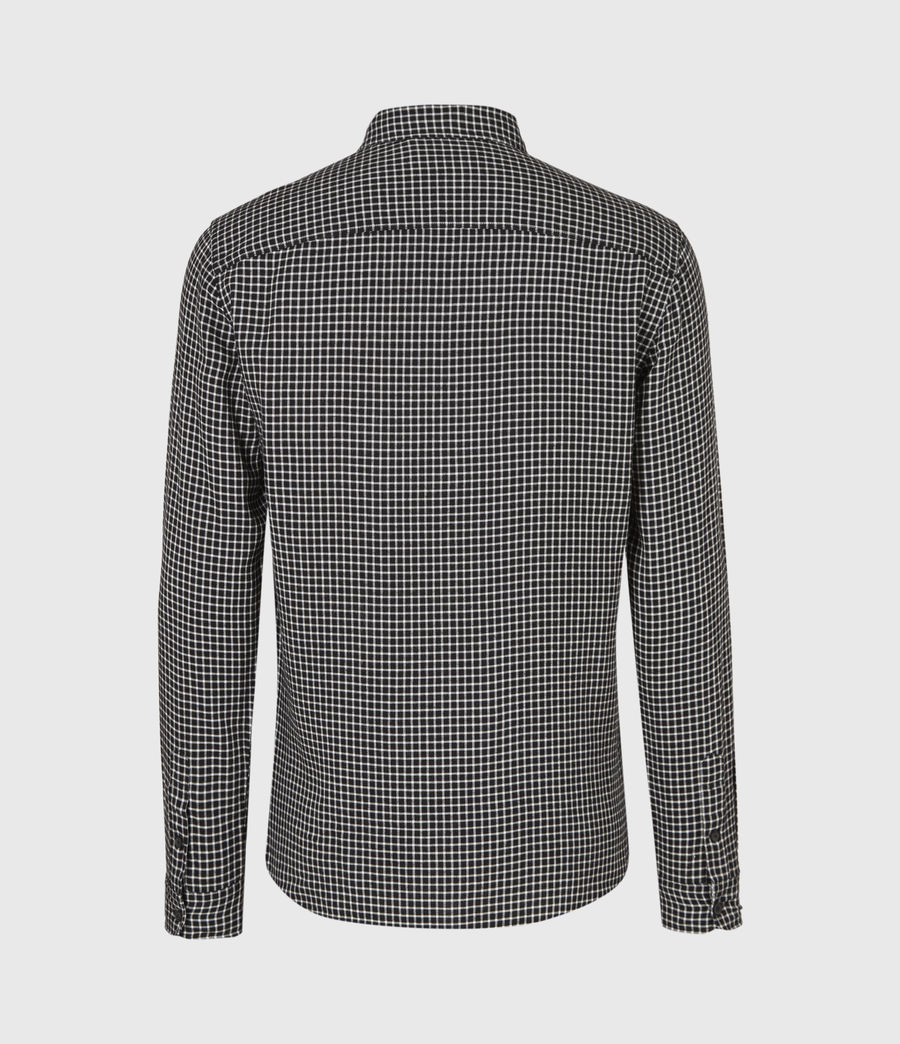 Mens Tilden Shirt (black_ecru) - Image 3