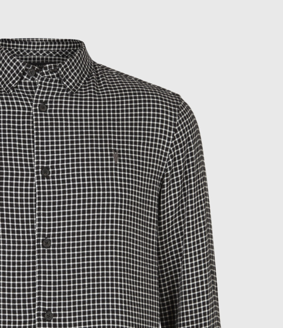 Mens Tilden Shirt (black_ecru) - Image 5