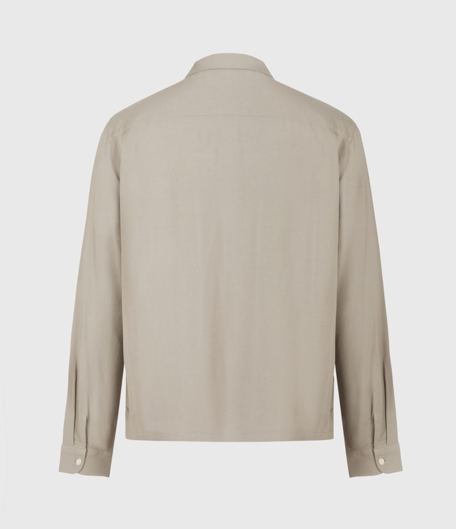Men's Venice Long Sleeve Shirt (willow_taupe) - Image 3