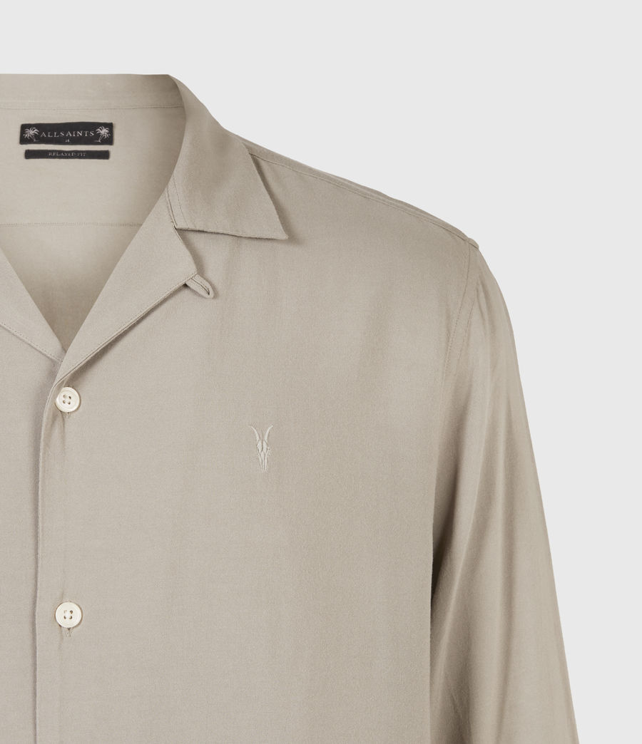 Men's Venice Long Sleeve Shirt (willow_taupe) - Image 5
