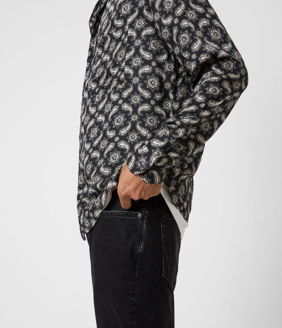 Mens Mitte Shirt (jet_black_ecru) - Image 4