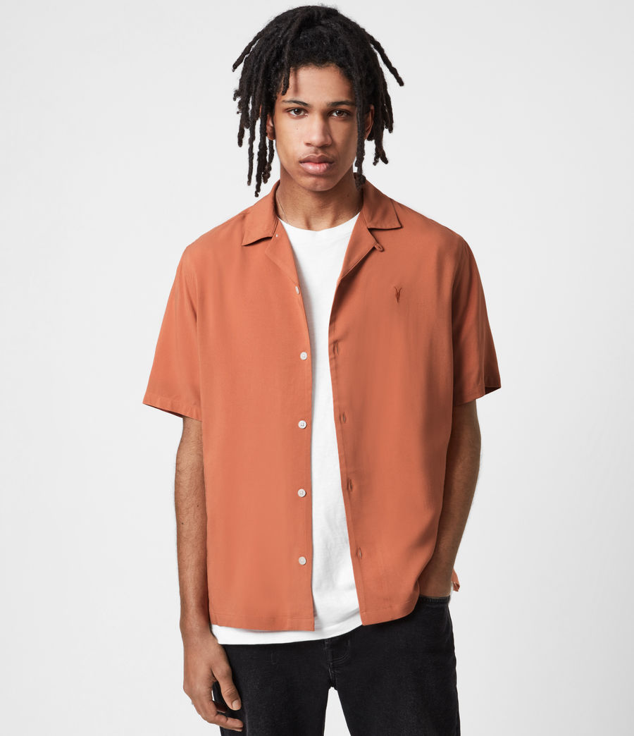 Men's Venice Short Sleeve Shirt (scorched_red) - Image 1