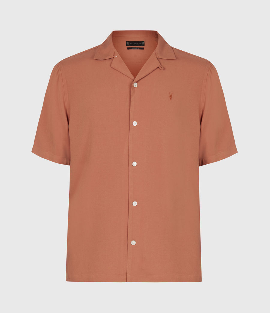 Men's Venice Short Sleeve Shirt (scorched_red) - Image 2