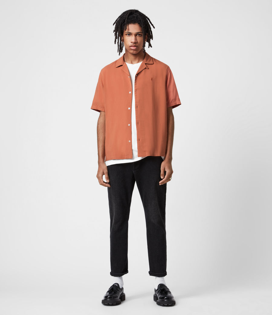 Men's Venice Short Sleeve Shirt (scorched_red) - Image 4