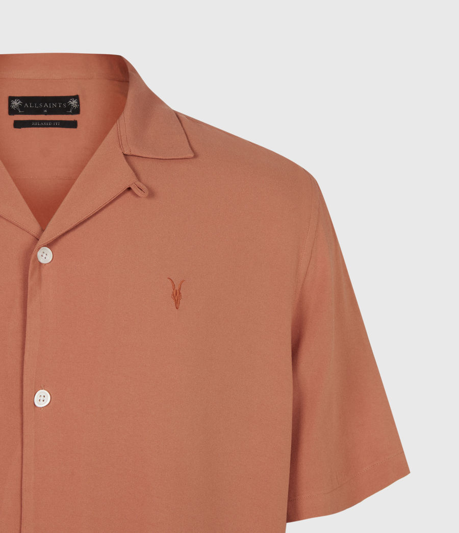 Men's Venice Short Sleeve Shirt (scorched_red) - Image 5