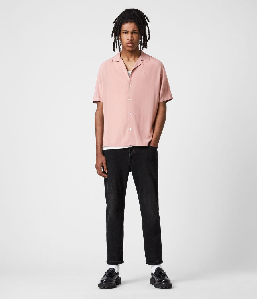 Men's Venice Short Sleeve Shirt (balsastone_pink) - Image 1