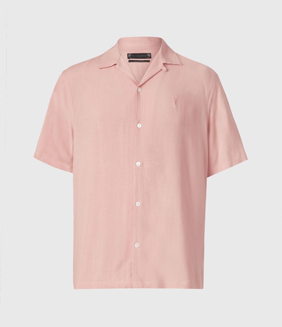 Men's Venice Short Sleeve Shirt (balsastone_pink) - Image 2