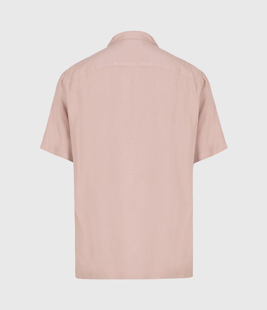 Men's Venice Short Sleeve Shirt (balsastone_pink) - Image 3
