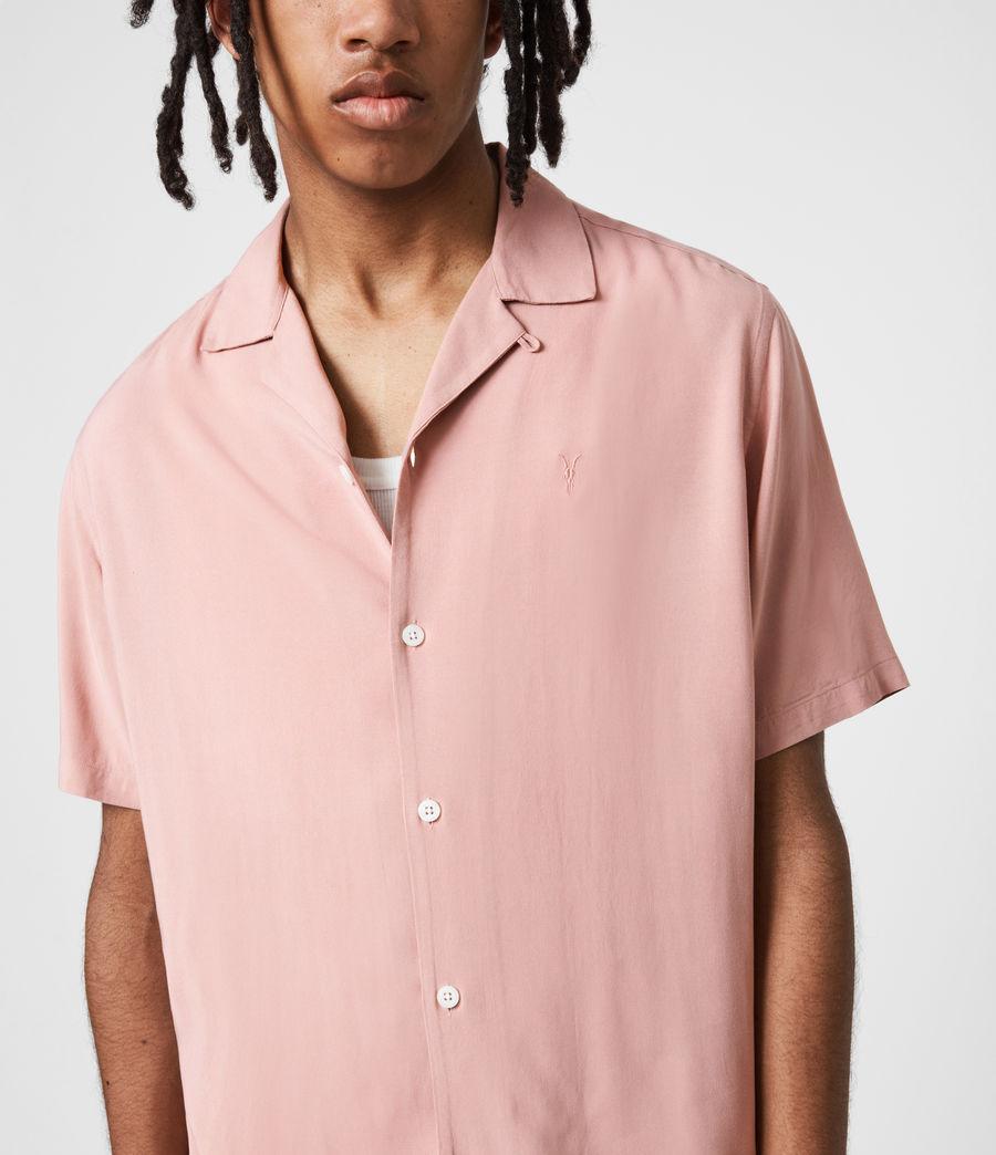 Men's Venice Short Sleeve Shirt (balsastone_pink) - Image 4