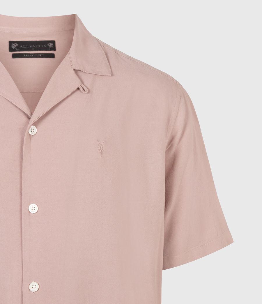 Men's Venice Short Sleeve Shirt (balsastone_pink) - Image 5