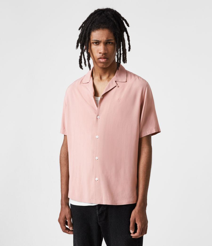 Men's Venice Short Sleeve Shirt (balsastone_pink) - Image 6