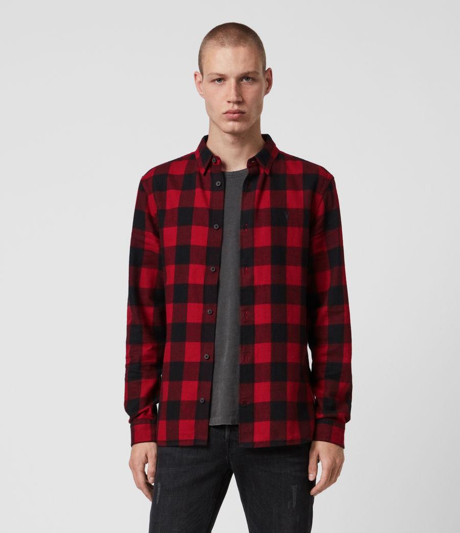 Men's Lumber Shirt (red_black) - Image 1