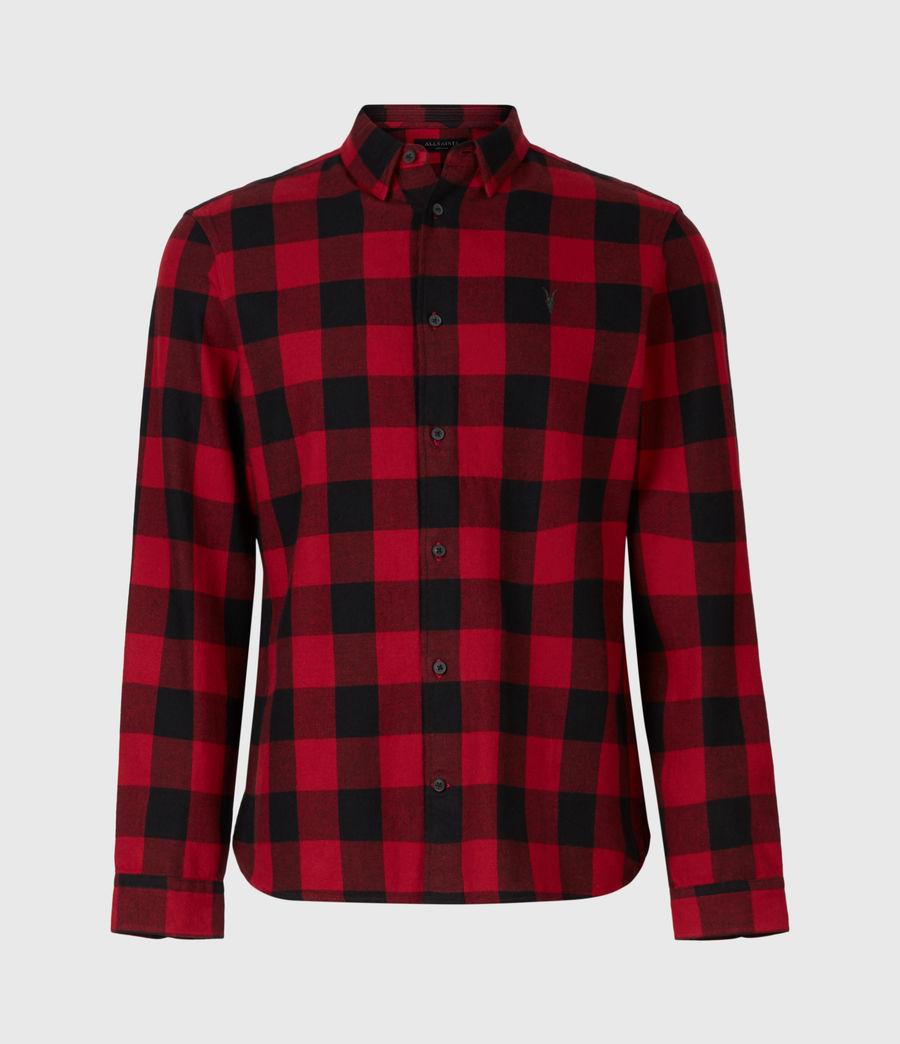 Men's Lumber Shirt (red_black) - Image 2
