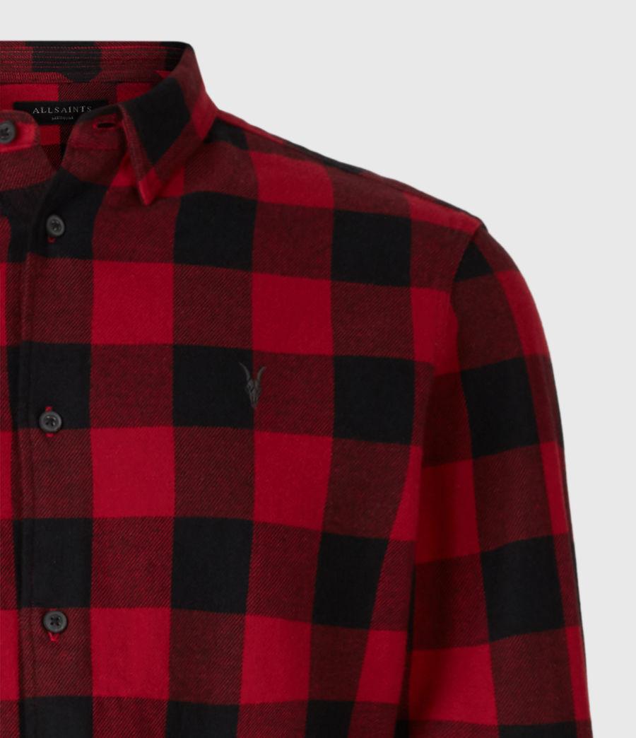 Men's Lumber Shirt (red_black) - Image 4