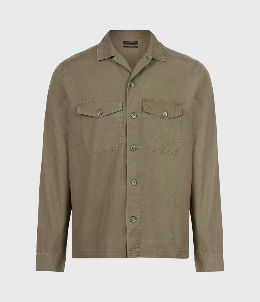Hommes Chemise Cadre (forest_brown) - Image 2