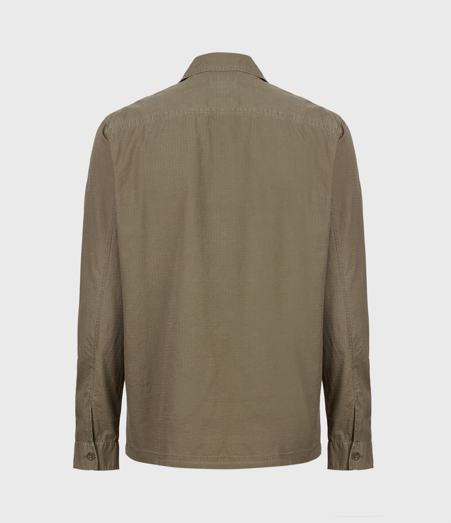 Hommes Chemise Cadre (forest_brown) - Image 3