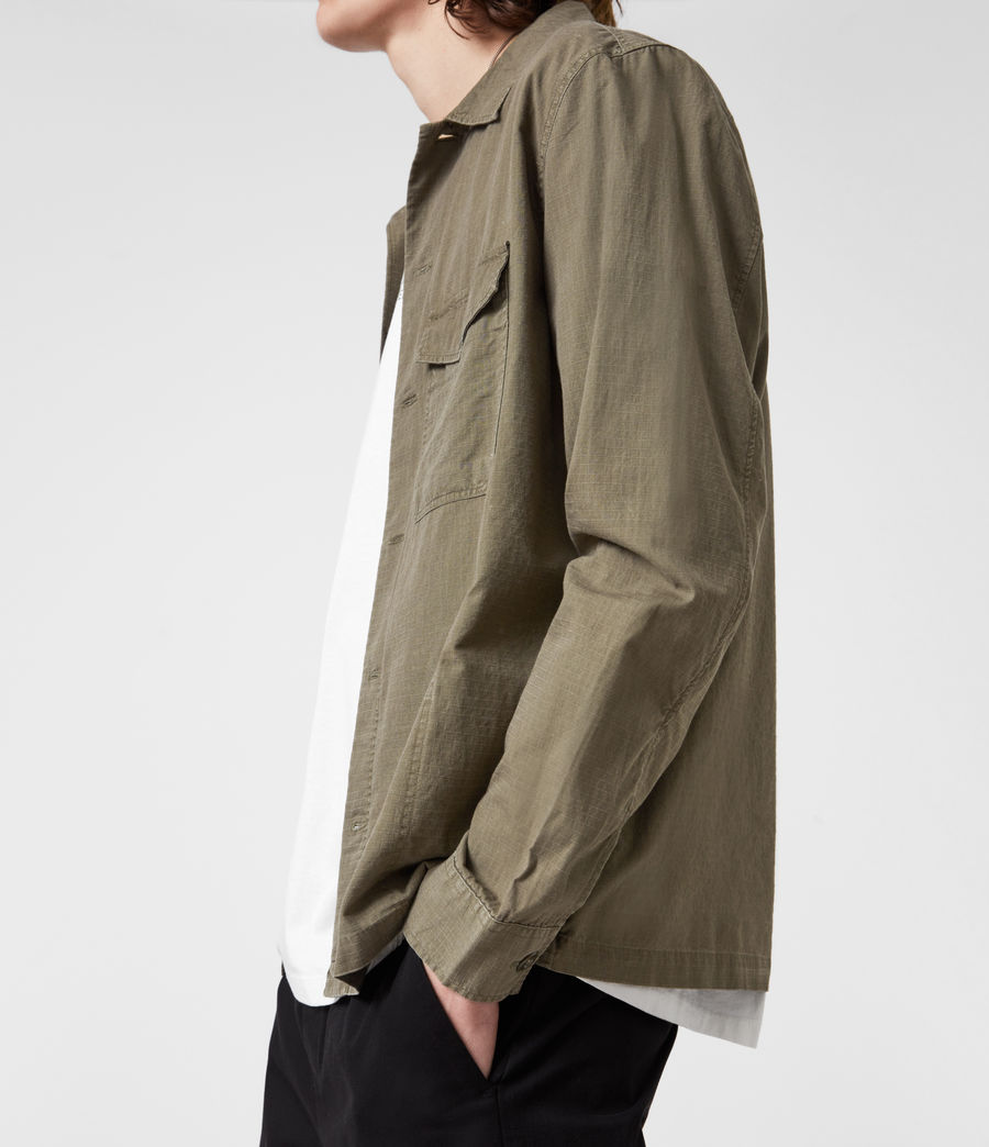 Hommes Chemise Cadre (forest_brown) - Image 4