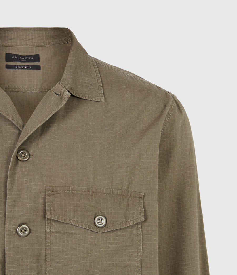Hommes Chemise Cadre (forest_brown) - Image 5