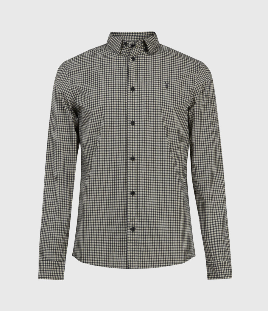 Herren Coleville Shirt (ecru_white_black) - Image 1