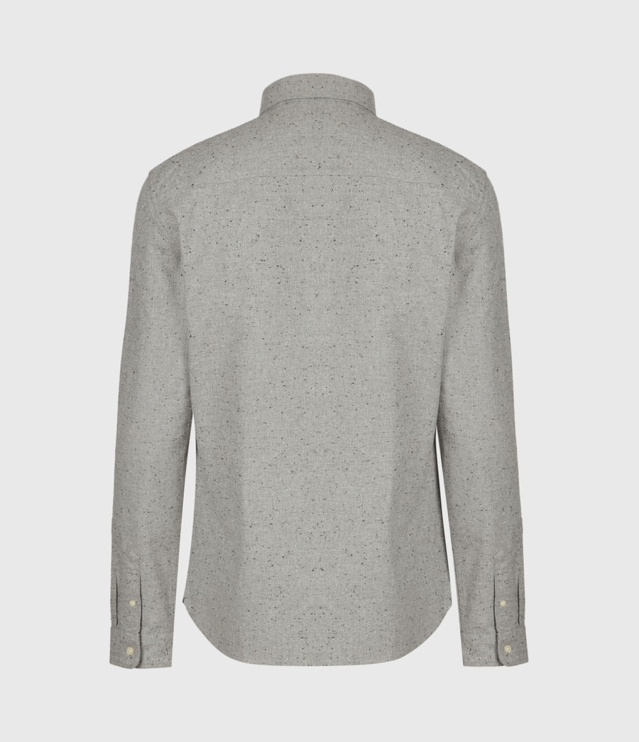 Mens Petrel Shirt (grey_marl_black) - Image 3