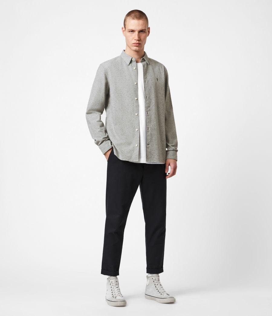 Mens Petrel Shirt (grey_marl_black) - Image 4