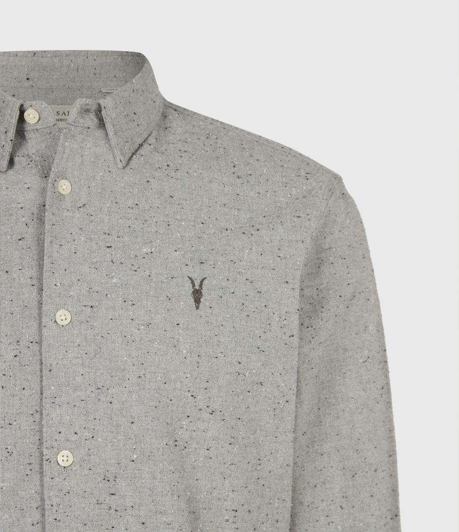 Mens Petrel Shirt (grey_marl_black) - Image 5