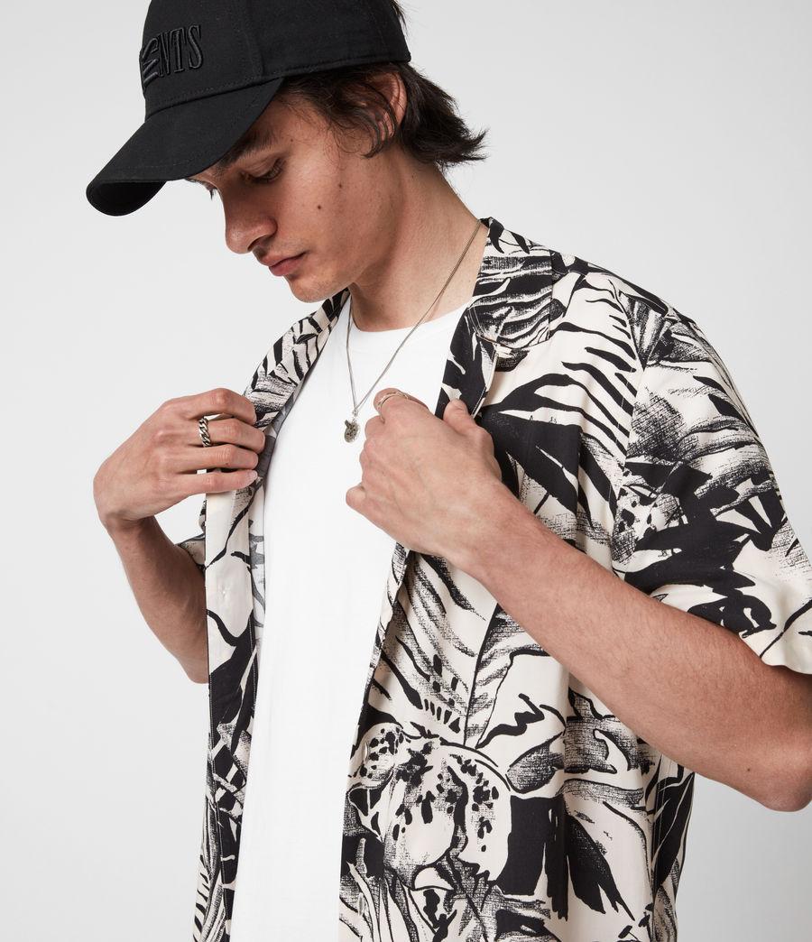 Men's Lanai Shirt (ecru_jet_black) - Image 1