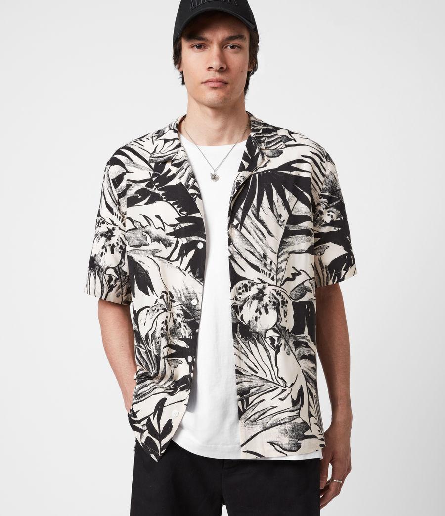 Men's Lanai Shirt (ecru_jet_black) - Image 4