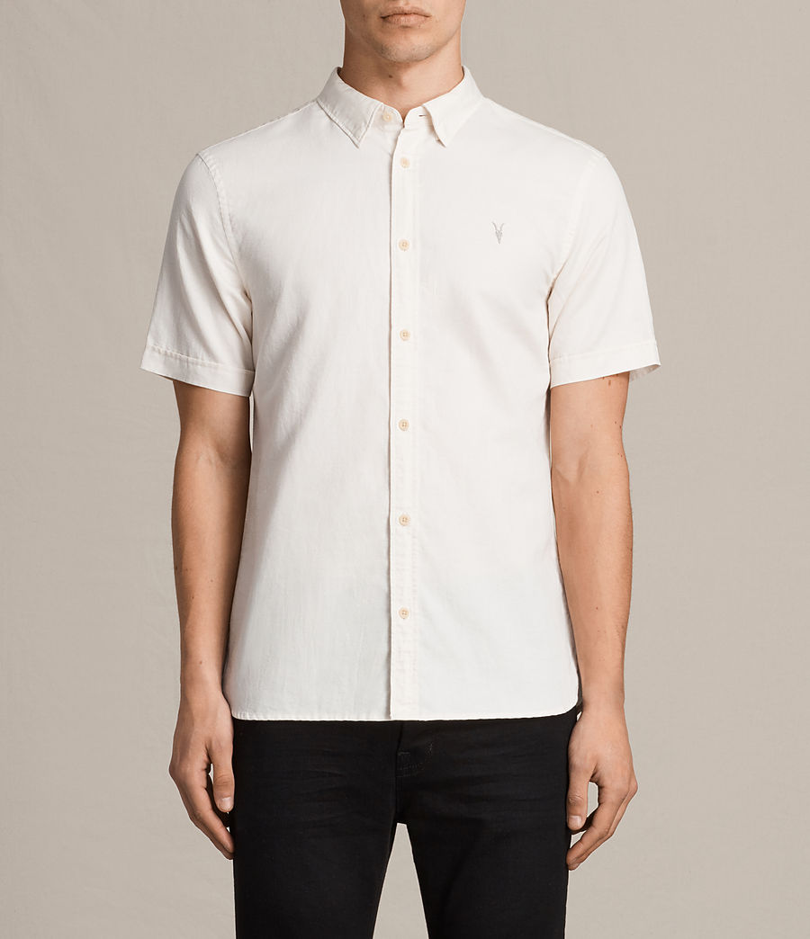 Mens Westlake Short Sleeve Shirt (ecru_white) - Image 1