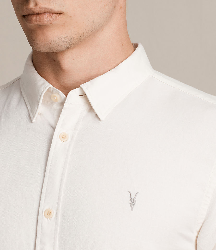Mens Westlake Short Sleeve Shirt (ecru_white) - Image 2