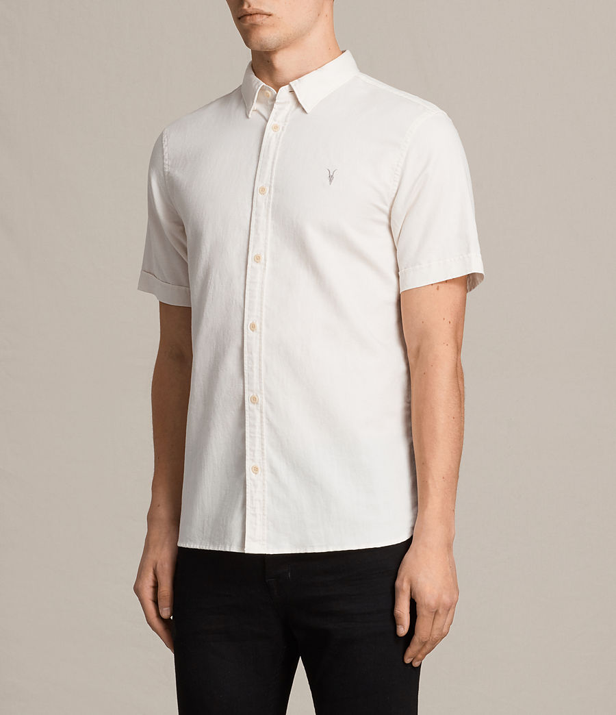 Mens Westlake Short Sleeve Shirt (ecru_white) - Image 3