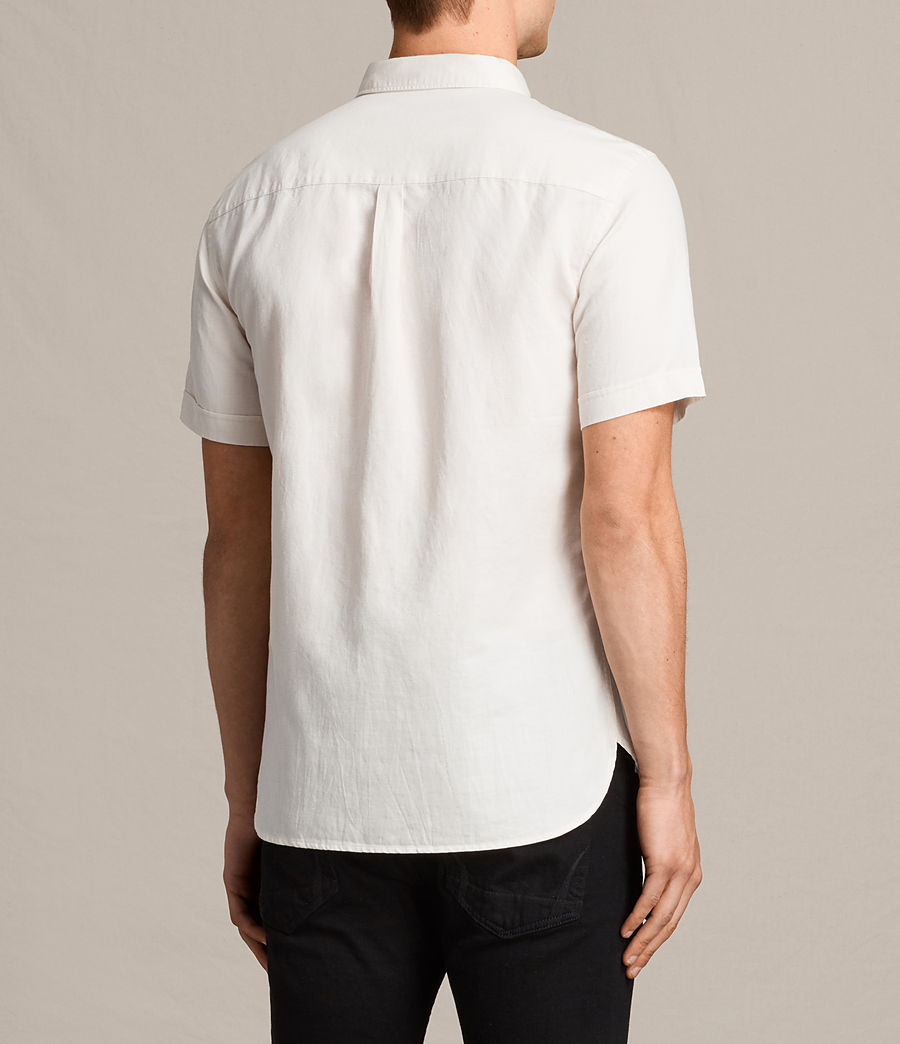 Mens Westlake Short Sleeve Shirt (ecru_white) - Image 4