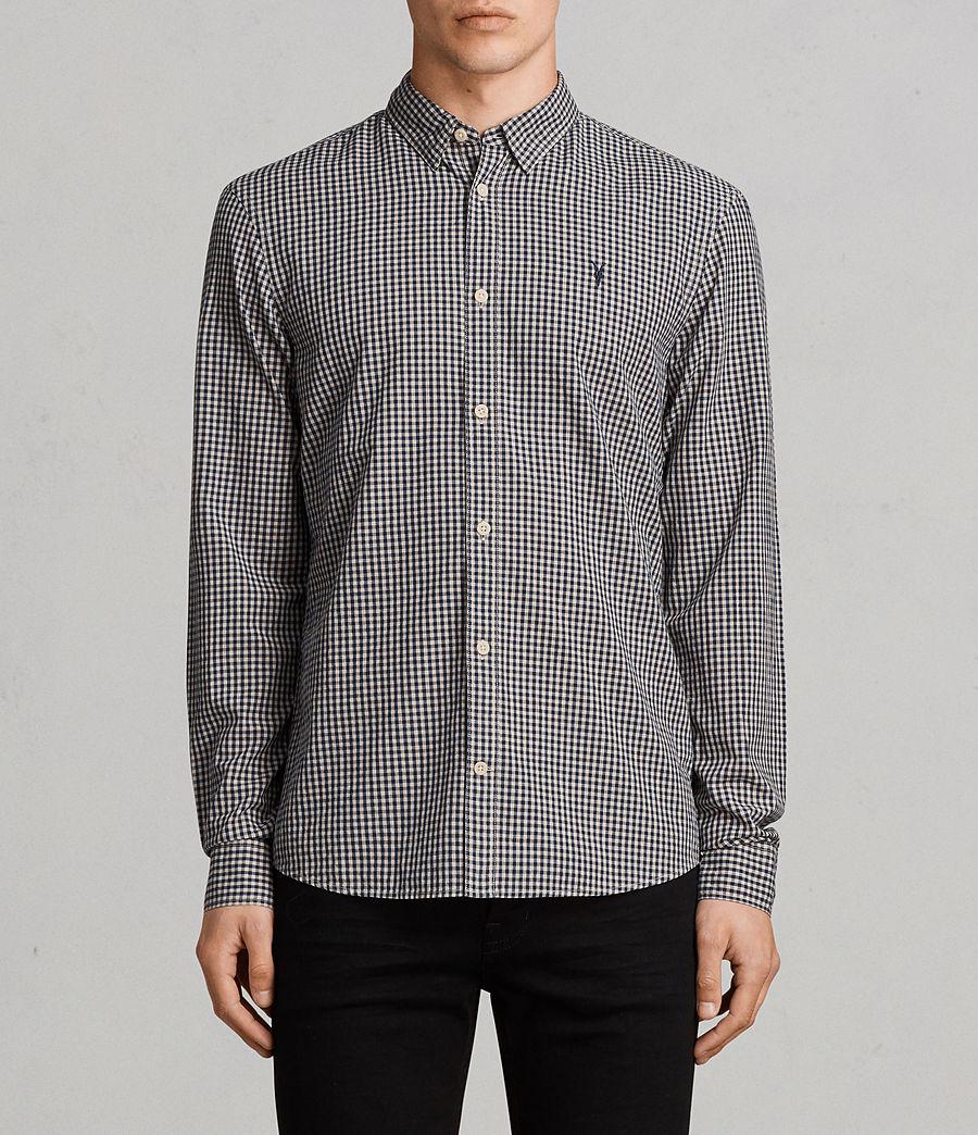 Hombres Camisa Quarry (inknavy_ecruwhite) - Image 1