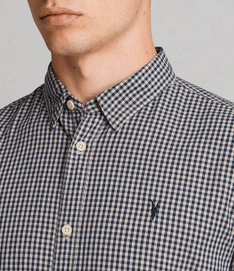 Hombres Camisa Quarry (inknavy_ecruwhite) - Image 2