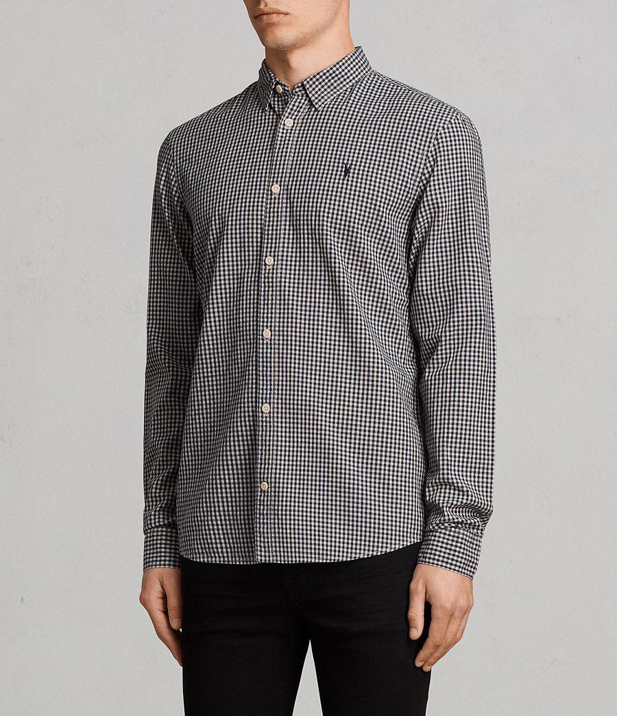 Hombres Camisa Quarry (inknavy_ecruwhite) - Image 3