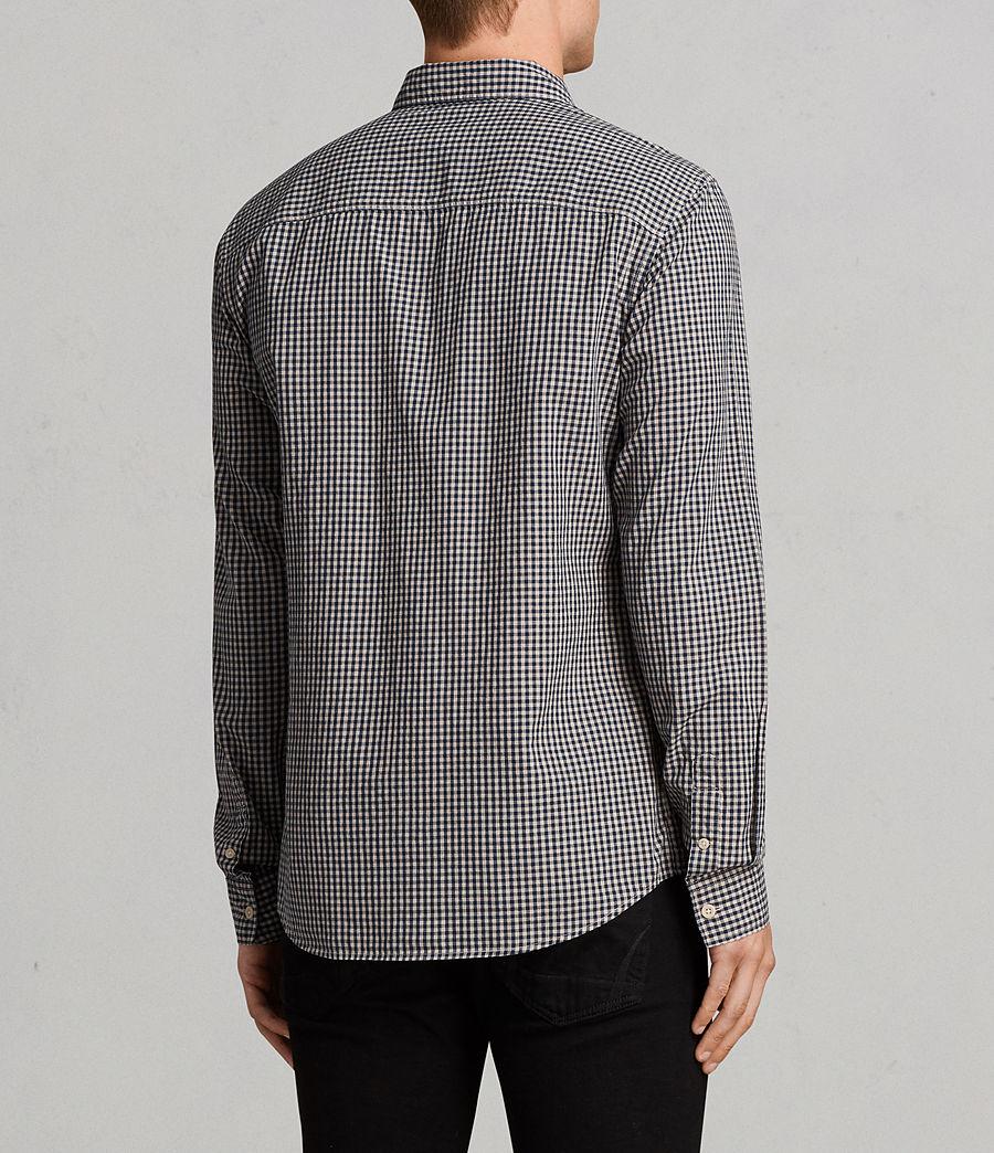 Hombres Camisa Quarry (inknavy_ecruwhite) - Image 4