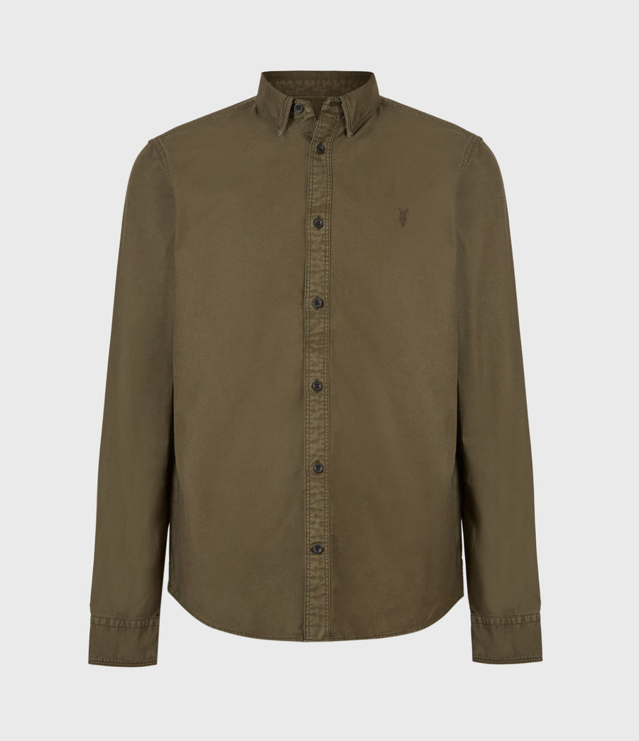 Herren Huntingdon Long Sleeve Shirt (parlour_green) - Image 2