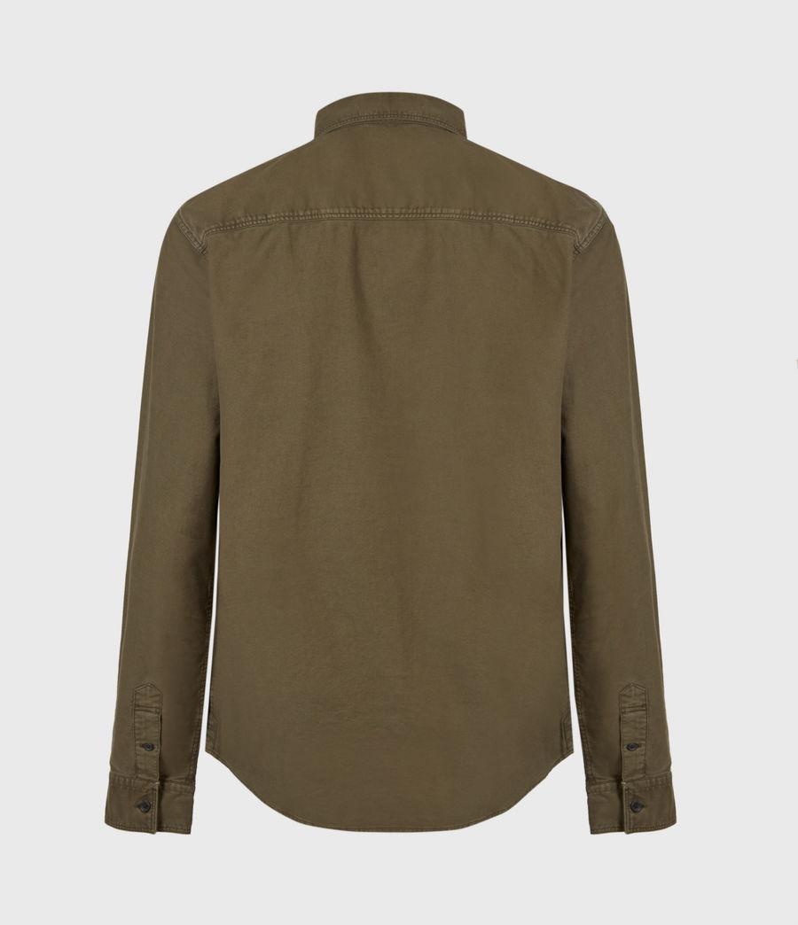Herren Huntingdon Long Sleeve Shirt (parlour_green) - Image 3