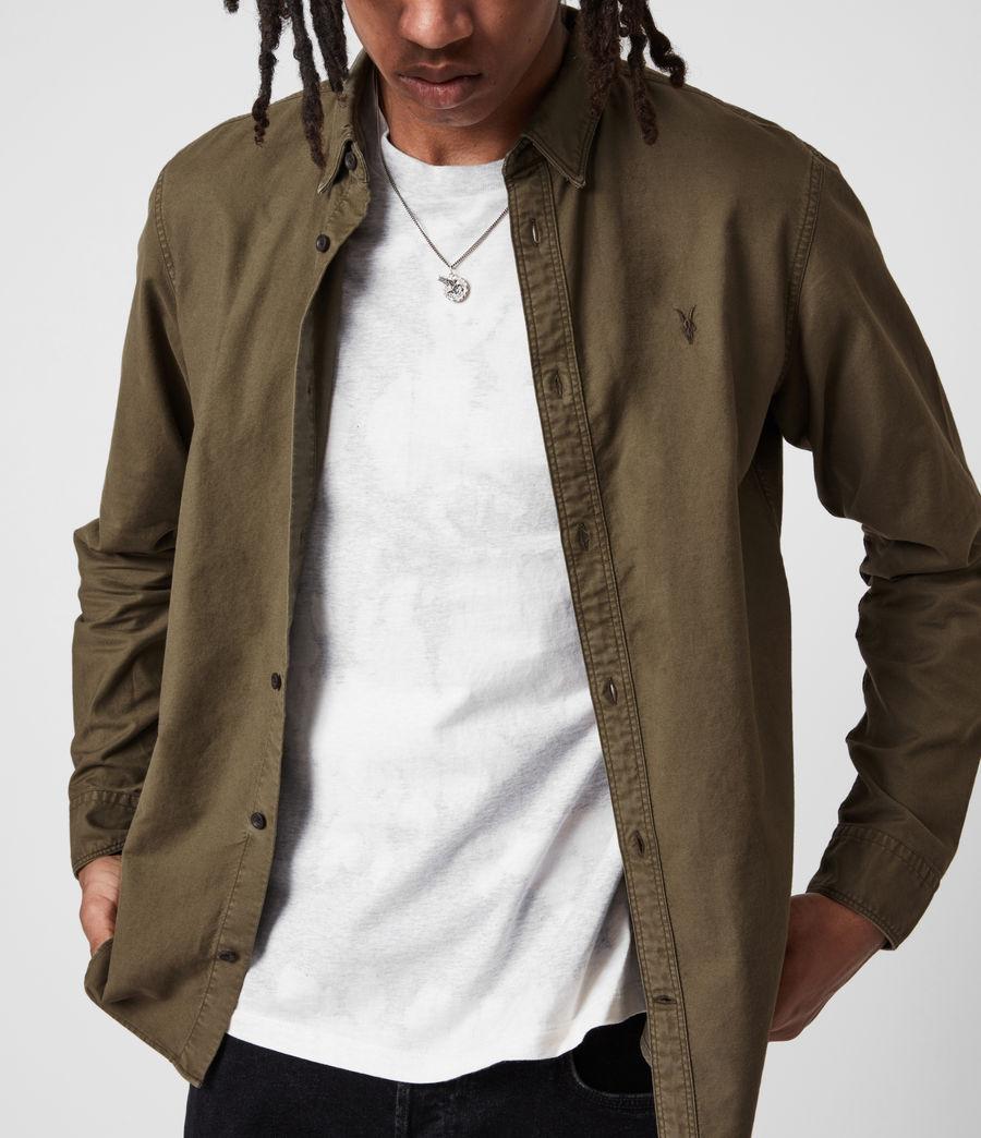 Herren Huntingdon Long Sleeve Shirt (parlour_green) - Image 4