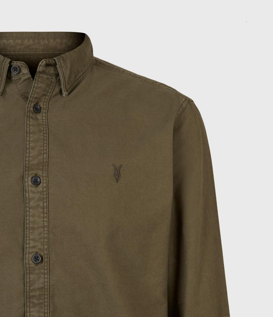 Herren Huntingdon Long Sleeve Shirt (parlour_green) - Image 5