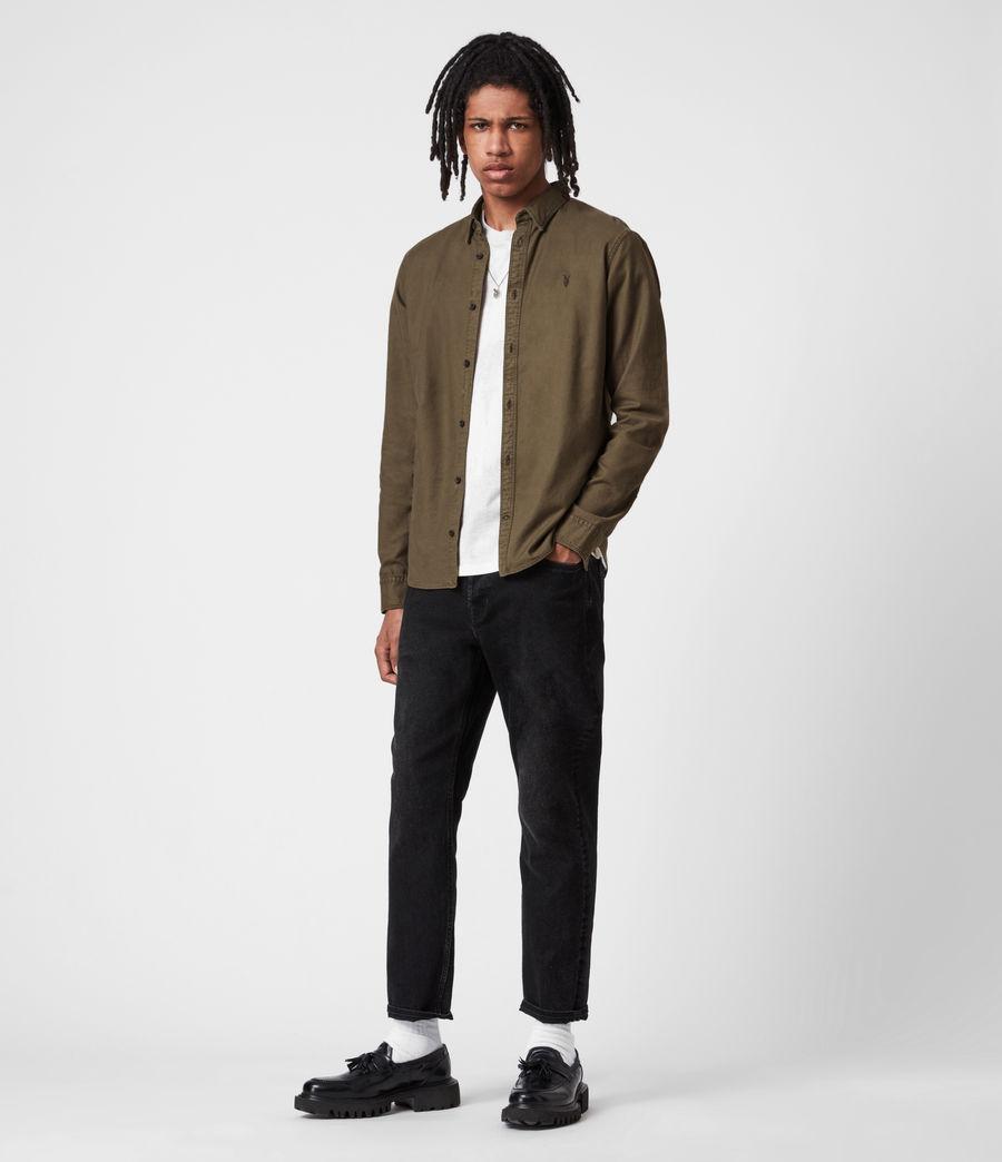 Herren Huntingdon Long Sleeve Shirt (parlour_green) - Image 6