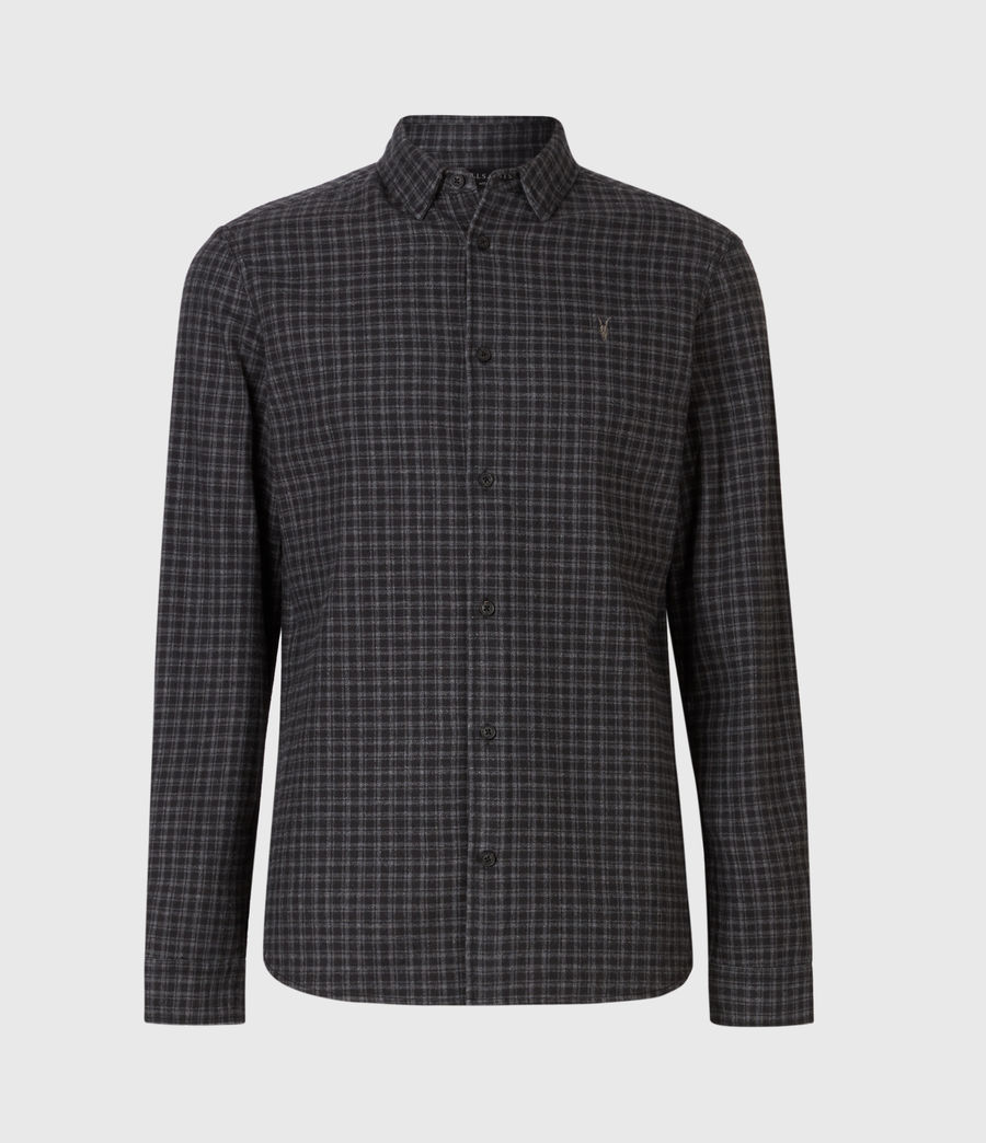 Mens Lindow Shirt (dark_grey_black) - Image 2