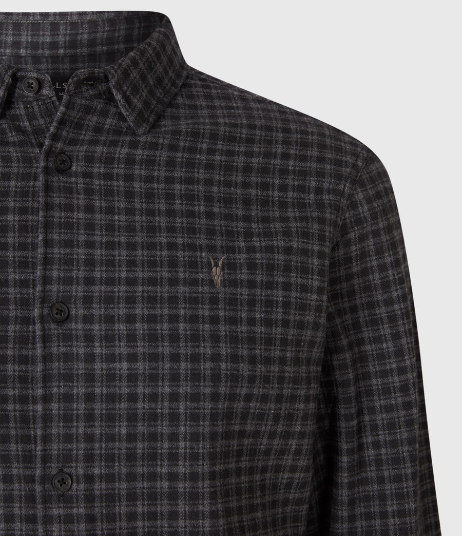 Mens Lindow Shirt (dark_grey_black) - Image 4